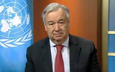 Message d'António Guterres, secrétaire général de l'ONU, à propos des violences conjugales pendant la période de confinement